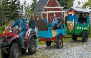 One of the 'various, unique forms of transportation' used on the island sheep tour.