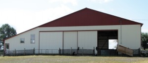 This barn houses the handling system as well as the shearing shed and a room used for AI and embryo transfer.
