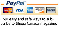 Four easy ways to subscribe to Sheep Canada magazine