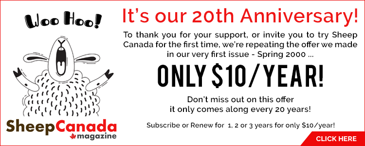 Sheep Canada 20th Anniversary Promotion