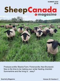 Sheep Canada magazine 2020 Summer Cover